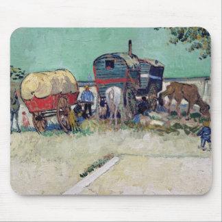 Tapis De Souris Vincent van Gogh | les caravanes, campement gitan