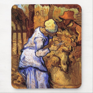 Tapis De Souris Vincent van Gogh - les haveuses de moutons -