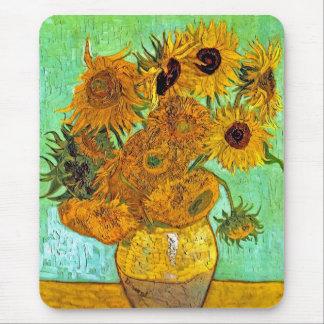 Tapis De Souris Vincent van Gogh - vase avec douze tournesols