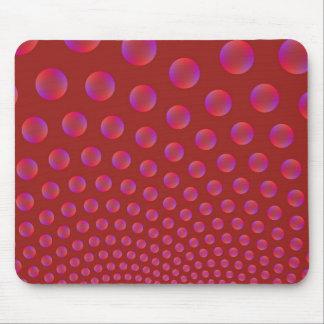 Tapis De Souris Violet et rouge bouillonne Mousepad
