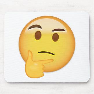 Tapis De Souris Visage de pensée Emoji