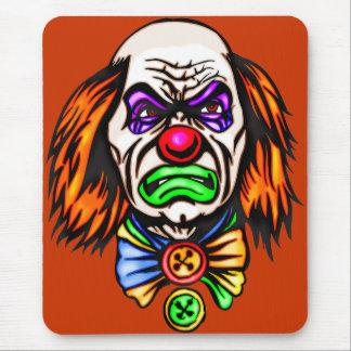 Tapis De Souris Visage mauvais de clown