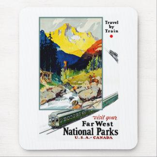 Tapis De Souris Visitez vos parcs nationaux occidentaux lointains