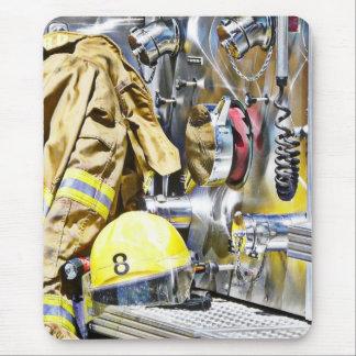 Tapis De Souris Vitesse et camion de pompiers de pompier de HDR