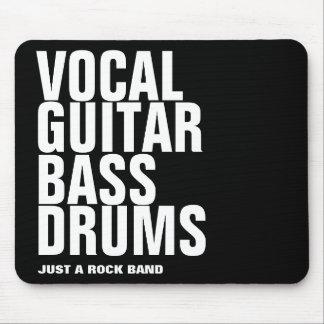 Tapis De Souris vocal, guitare, basse, roche de tambours…