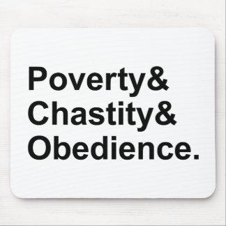 Tapis De Souris Voeux de Monastic de l'obéissance | de chasteté de