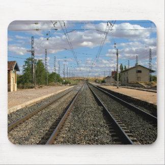 Tapis De Souris Voies de train dans une gare de Tolède