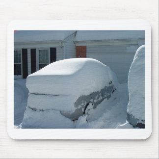 """Tapis De Souris """"Voiture de neige"""" sur la voiture. Tempête de"""