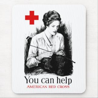 Tapis De Souris Vous pouvez aider la Croix-Rouge américaine