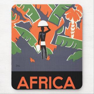 Tapis De Souris Voyage vintage d'art déco, indigène dans la jungle