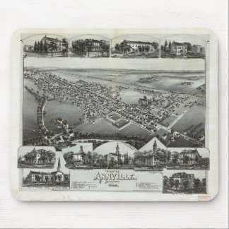 Tapis De Souris Vue aérienne d'Annville, Pennsylvanie (1888)