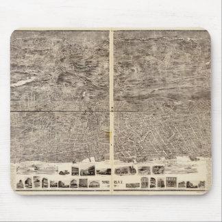 Tapis De Souris Vue aérienne de Yonkers, New York (1899)