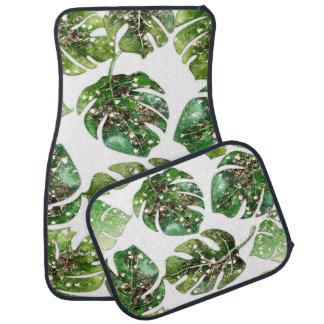 Tapis De Voiture Charme fascinant tropical de palmettes chic