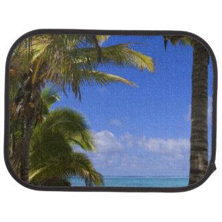 Tapis De Voiture Îles Cook rayées par paume de plage 2