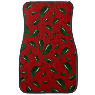 Tapis De Voiture Motif rouge de poivrons de jalapeno