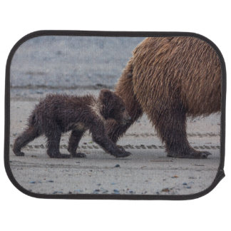 Tapis De Voiture Petit animal d'ours de Brown