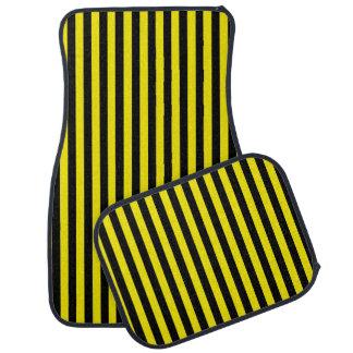 Tapis De Voiture Rayures noires et jaunes verticales