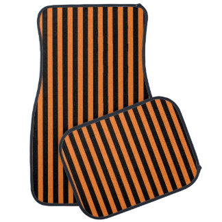 Tapis De Voiture Rayures oranges et noires verticales