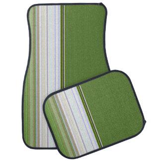 Tapis De Voiture Rayures verticales sur le vert