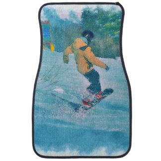 Tapis De Voiture Surfeur audacieux à la station de vacances de
