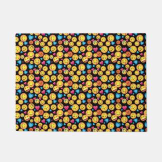 Tapis mignon de plancher d'impression d'Emoji