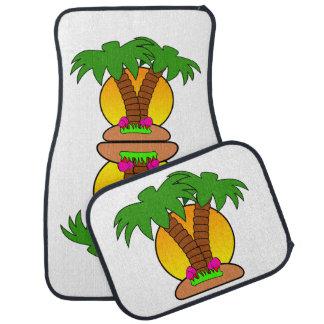 Tapis tropicaux de plancher de voiture d'île