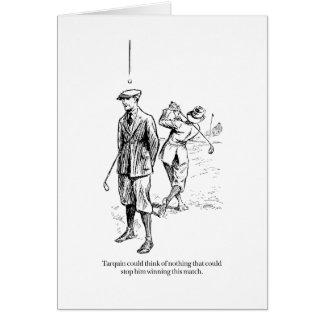 Tarquin et le match de golf carte de vœux