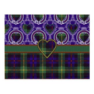 Tartan d'écossais de Farquarson Carte Postale
