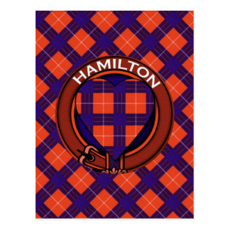 Tartan d'écossais de Hamilton Carte Postale