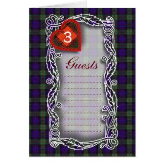 Tartan d'écossais de Murray Carte De Vœux