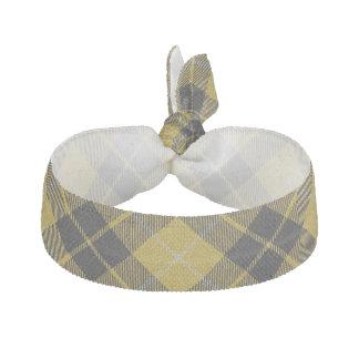 Tartan écossais de noir de jaune d'accents de élastique pour cheveux