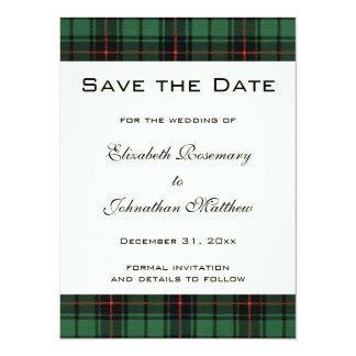 Tartan vintage, mariage moderne de motif de carton d'invitation  13,97 cm x 19,05 cm