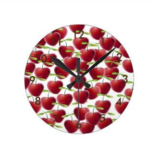 Tarte aux cerises horloge ronde