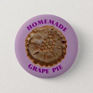 Tarte fait maison de raisin badge rond 5 cm