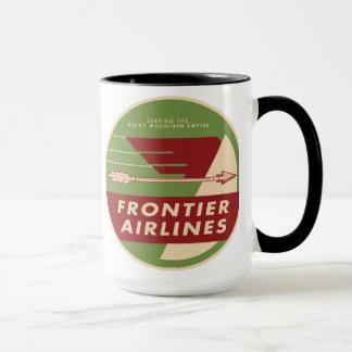 Tasse 1946 de logo de Frontier Airlines de cru