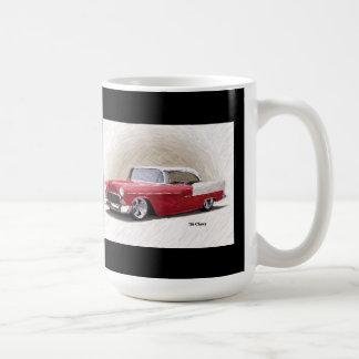 Tasse 1956 blanche rouge d'art numérique de Chevy