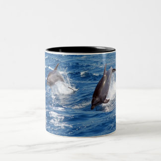 Tasse 2 Couleurs Aventure de dauphin