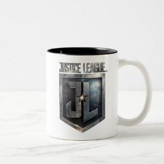 Tasse 2 Couleurs Bouclier métallique de la ligue de justice | JL
