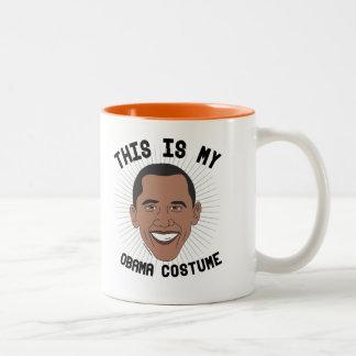 Tasse 2 Couleurs C'est mon costume de Barack Obama -- Élection 2016