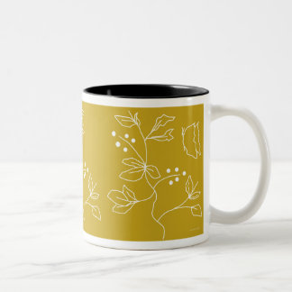 Tasse 2 Couleurs Champ de papillon