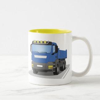 Tasse 2 Couleurs chantiers camion bleus