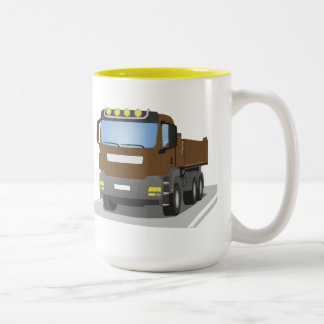Tasse 2 Couleurs chantiers camion bruns