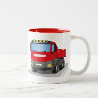 Tasse 2 Couleurs chantiers camion rouges