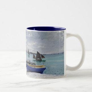 Tasse 2 Couleurs Claude Monet | la plage chez Sainte-Adresse