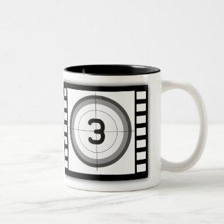 TASSE 2 COULEURS COMPTE À REBOURS NOIR ET BLANC DE FILM
