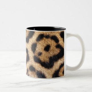 Tasse 2 Couleurs Copie de photo de fourrure de Jaguar