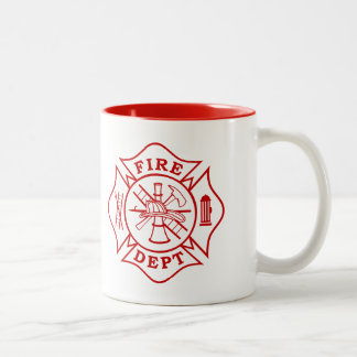 Tasse 2 Couleurs Département du feu/tasse croix maltaise de