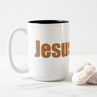 Tasse 2 Couleurs Effet en cuir Jésus de stich