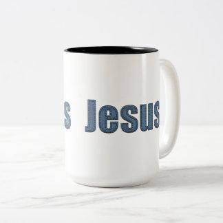 Tasse 2 Couleurs Effet matériel Jésus de Jean