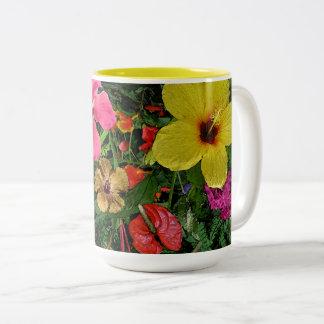 Tasse 2 Couleurs Fleurs tropicales